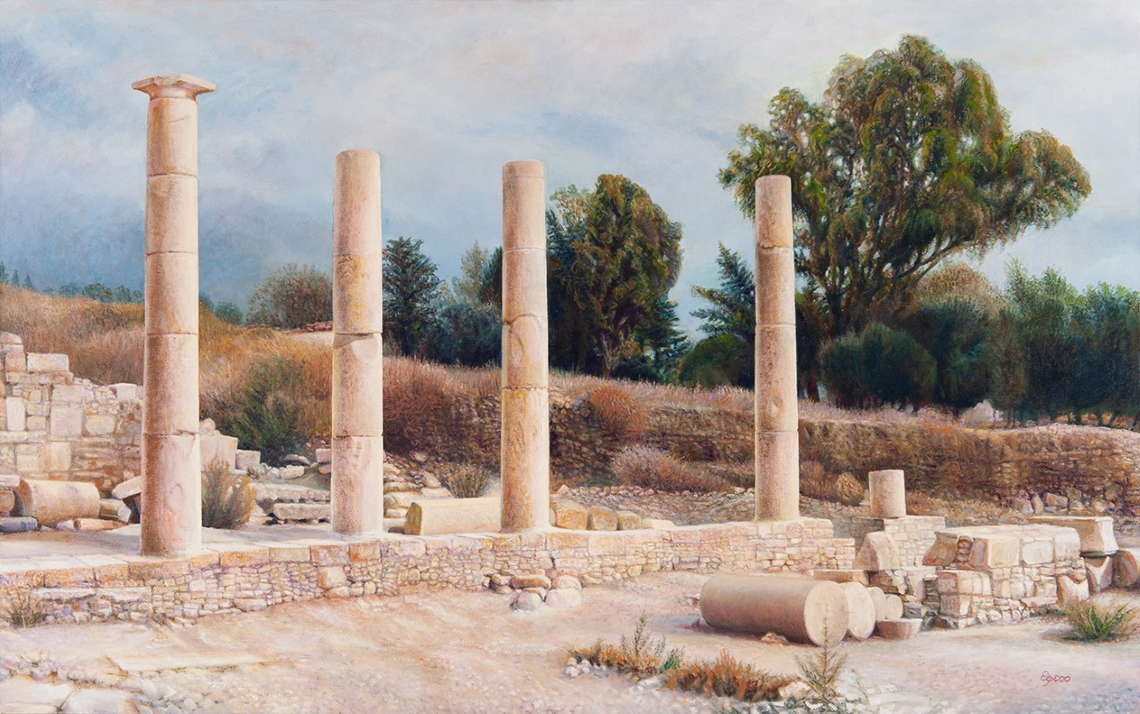 Columns and trees in the background – Copy